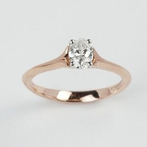 Gabriel & Co. Oval Diamond Engagement Ring